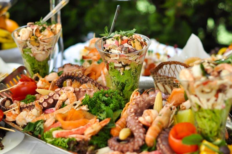 Cateringu jedzenie, denny jedzenie, zakończenie up zdjęcie stock