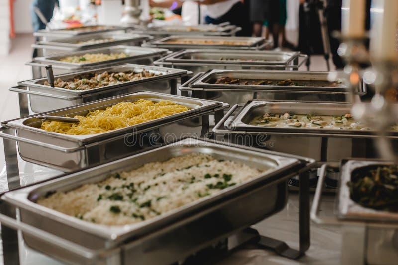 Cateringu jedzenie dla poślubiać fotografia stock