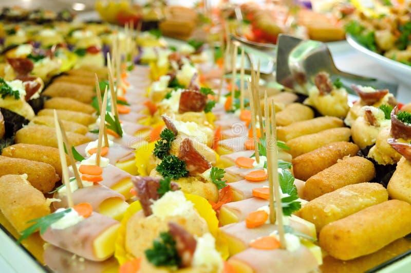 Cateringu jedzenie, zamyka up obrazy royalty free