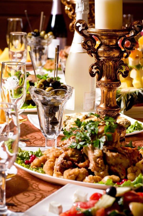 Cateringu stołowa setu usługa obraz royalty free