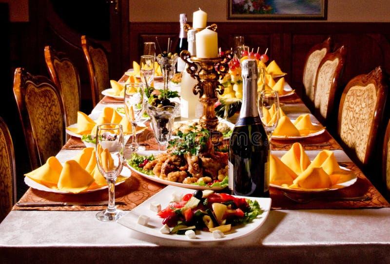 Cateringu stołowa setu usługa zdjęcie stock