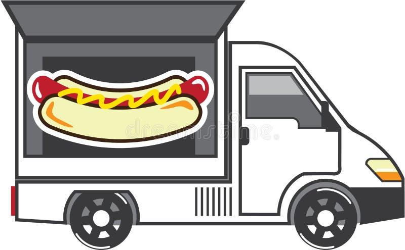 Cateringu Van Wektor Jedzenie ciężarówka ilustracji