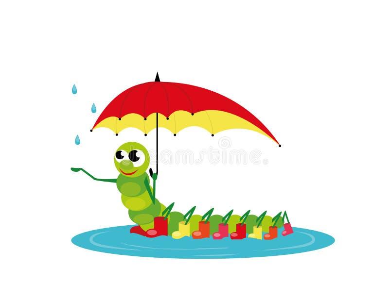 Caterpillar royaltyfri illustrationer