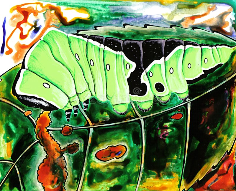caterpillar vektor illustrationer