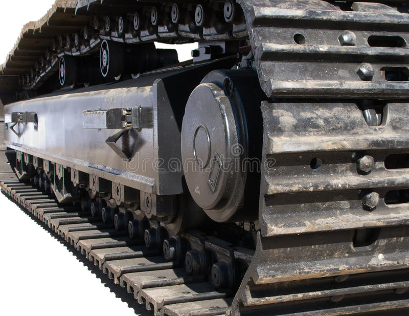 Caterpillar. Construction machine caterpillar or tractor chain stock photos