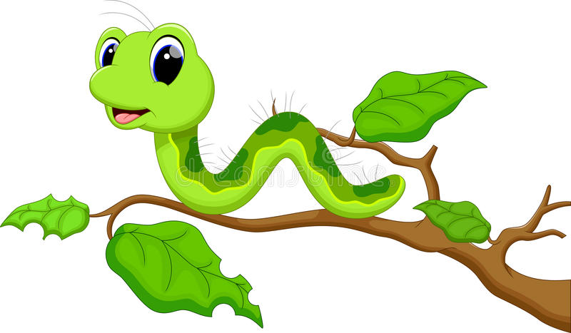 Caterpillar-beeldverhaal vector illustratie
