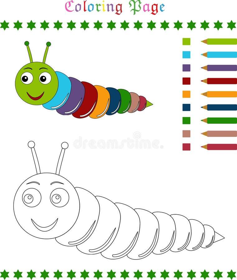 Caterpillar-Farbtonseite lizenzfreie abbildung