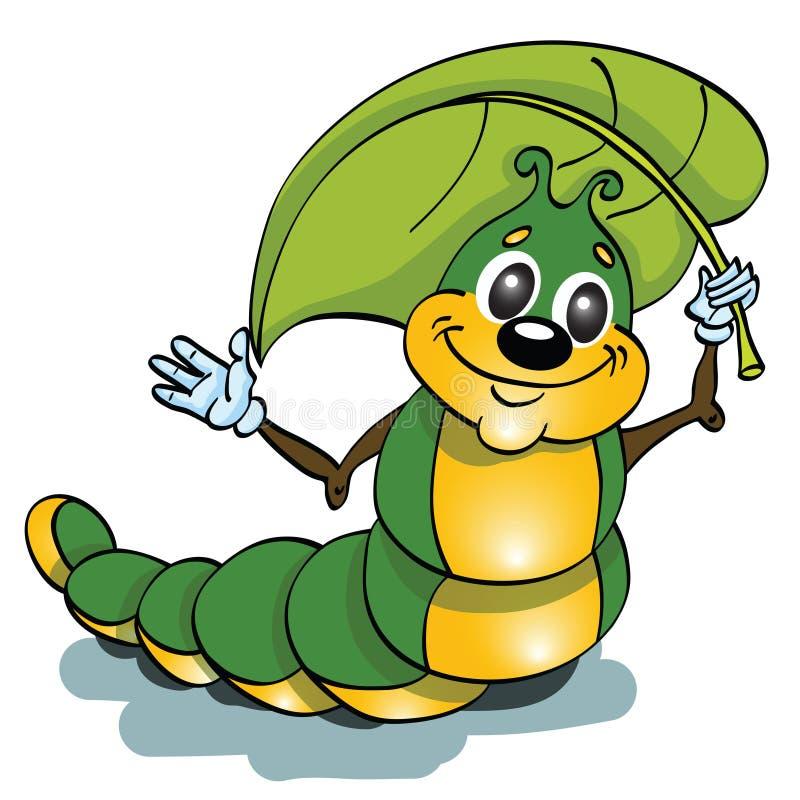Caterpillar-Insekt lizenzfreie abbildung