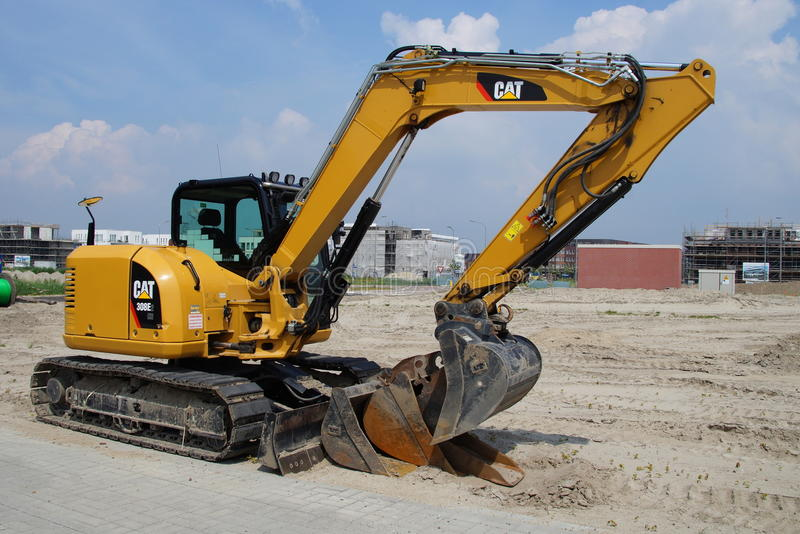 Caterpillar 308 Mini Hydraulic Excavator immagine stock