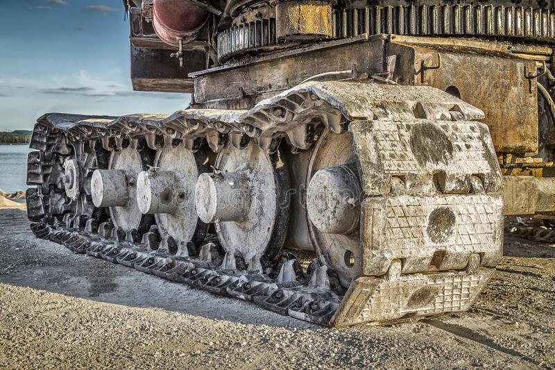 Caterpillar excavator career stock image