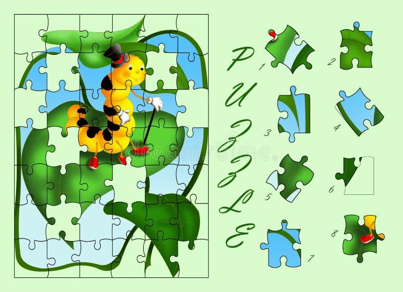 Caterpillar puzzle stock image