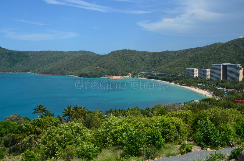Cateye Beach on Hamilton island royalty free stock photos
