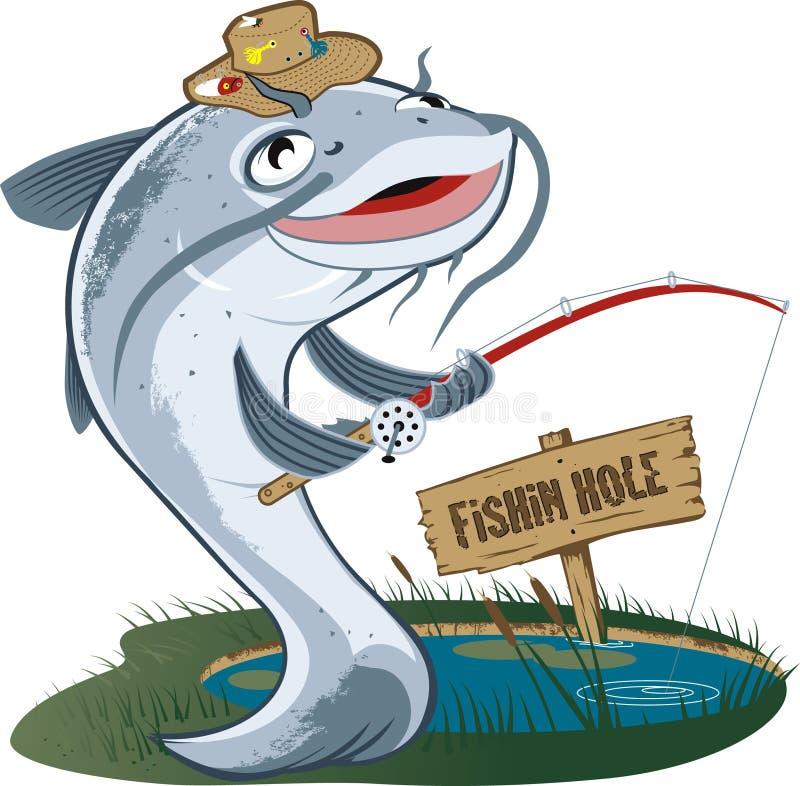 Download Catfish Fisherman stock vector. Image of happy, bait - 30494280