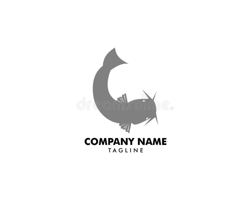 Catfish Logo Template Vector Icon Illustration Design royalty free illustration