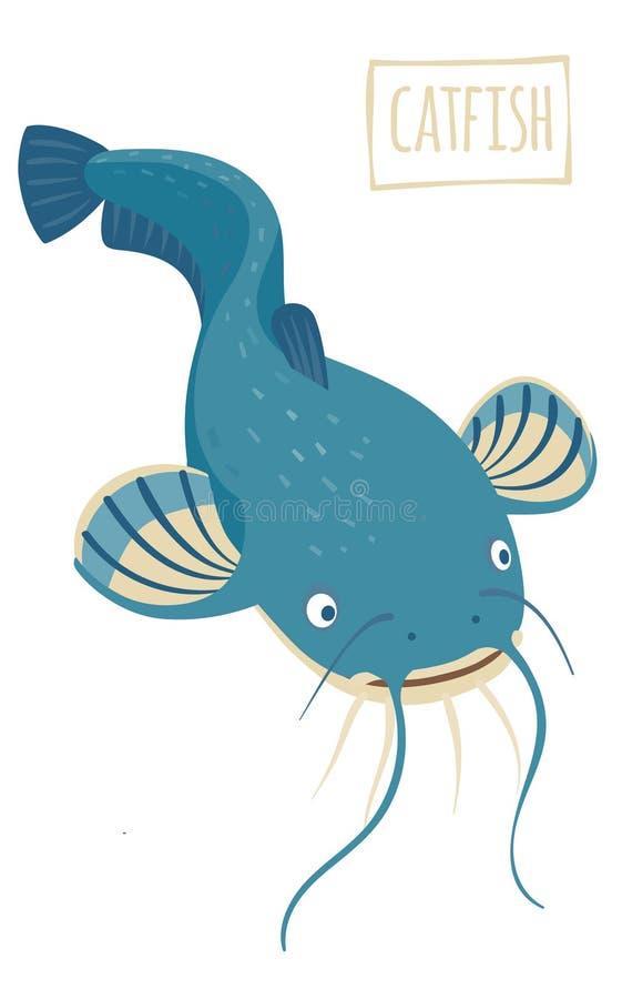 Free Catfish, Vector Cartoon Illustration Stock Image - 66253321