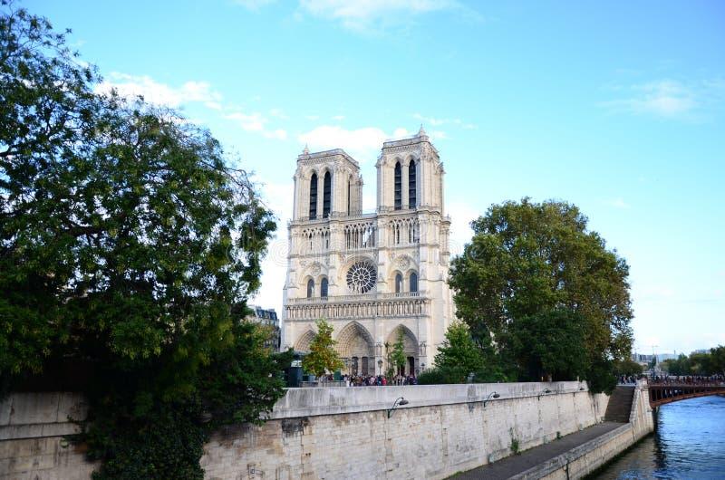 Cathédrale Notre Dame Paris Sunny Day stock fotografie