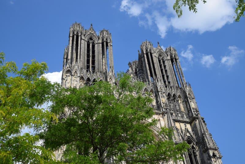 Cathédrale de Reims royaltyfri fotografi