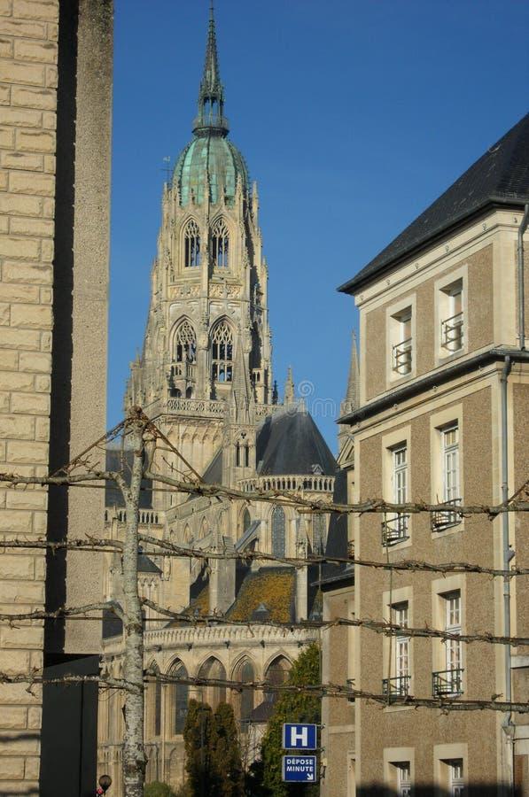 Cathédrale Notre-Dame de Bayeux royaltyfri foto