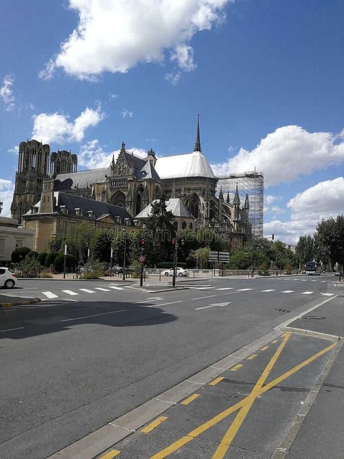 Cathédrale Notre Dame de Reims royaltyfri foto