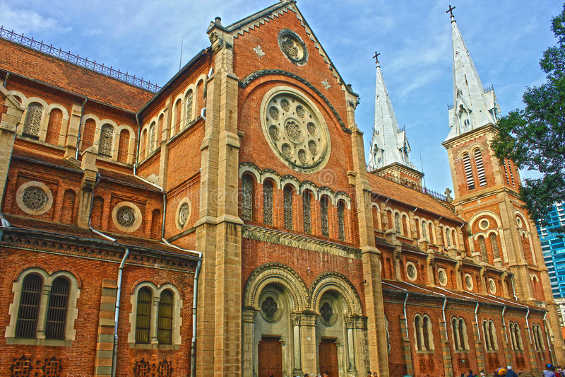 Cathédrale Notre-Dame DE Saïgon royalty-vrije stock afbeeldingen