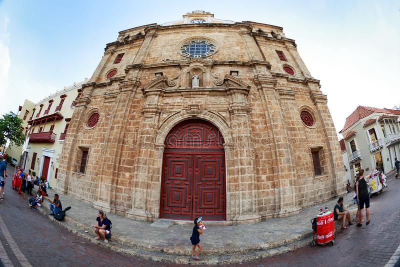 Cathédrale à Carthagène photographie stock