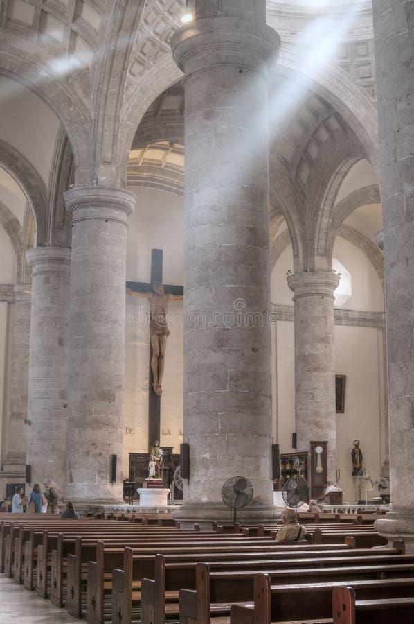 Cathédrale à Mérida, Mexique photographie stock libre de droits