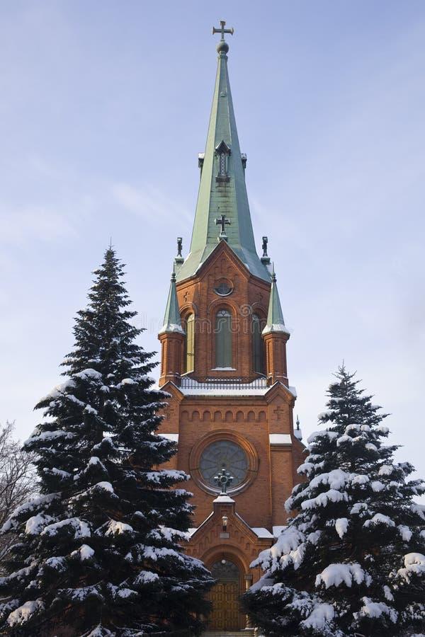 Cathédrale à Tampere images libres de droits