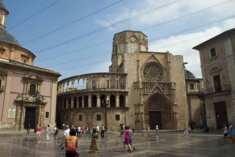 Cathédrale à Valence images stock