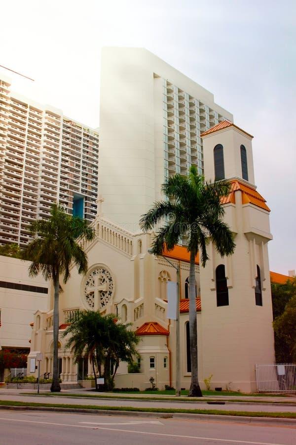 Cathédrale épiscopale de trinité à Miami, la Floride photo libre de droits
