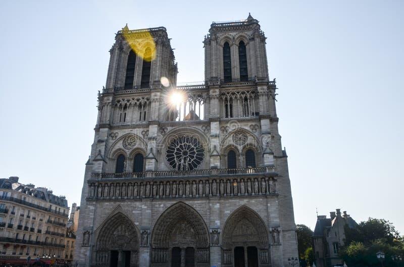 Cathédrale巴黎圣母院 库存照片