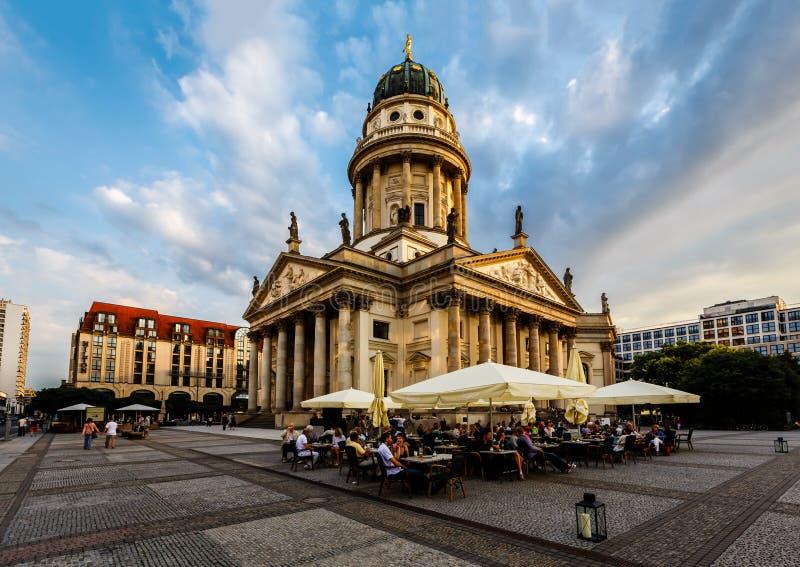 Cathédrale allemande sur la place de Gendarmenmarkt à Berlin, Allemagne photographie stock