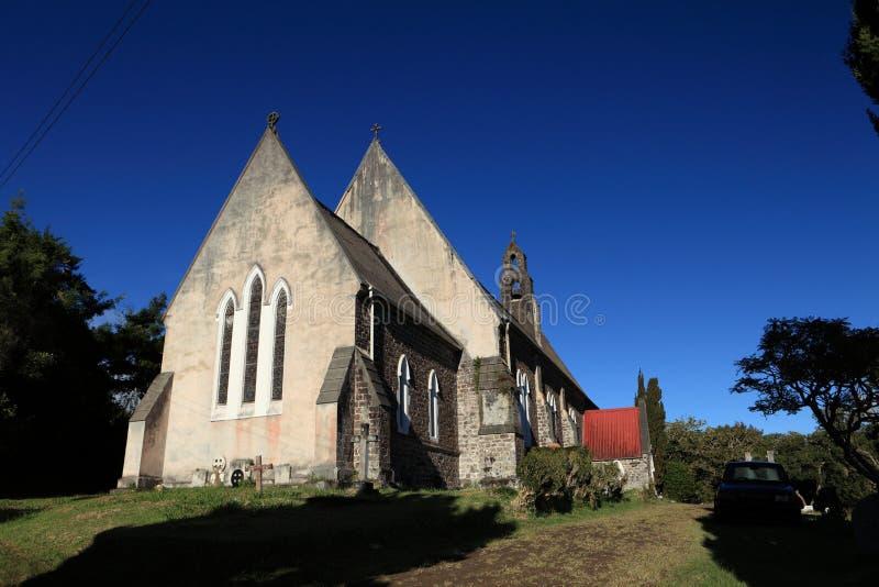 Cathédrale Anglicane de rue Pauls sur l'île du Saint Helena photographie stock libre de droits