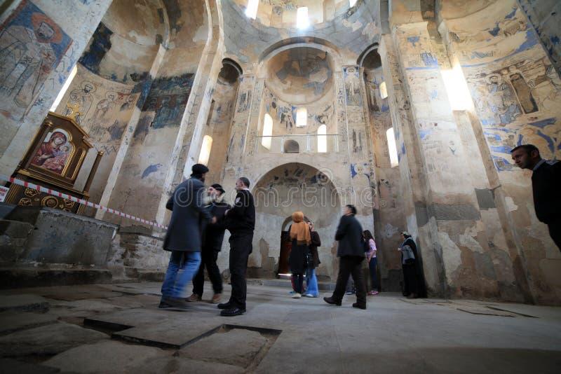 Cathédrale arménienne en Van City, Turquie photographie stock libre de droits