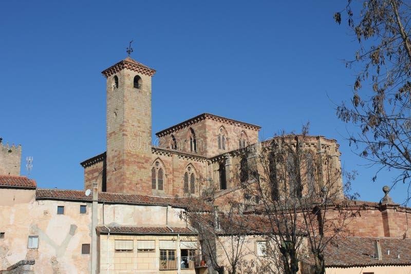 Cathédrale célèbre de St Mary dans Siguenza, Guadalajara, Espagne photo libre de droits