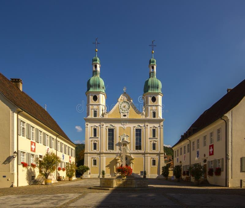 Cathédrale catholique dans Arlesheim images libres de droits