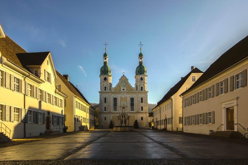 Cathédrale catholique dans Arlesheim images stock