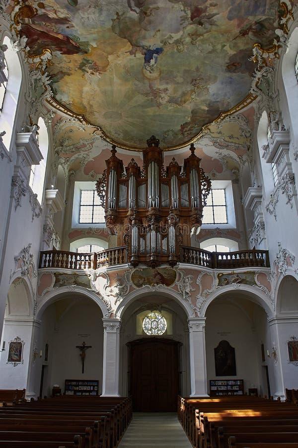 Cathédrale catholique dans Arlesheim photographie stock libre de droits
