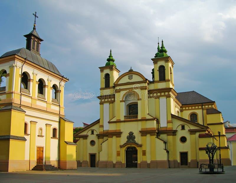Cathédrale catholique, Ivano-Frankivsk, Ukraine photos libres de droits