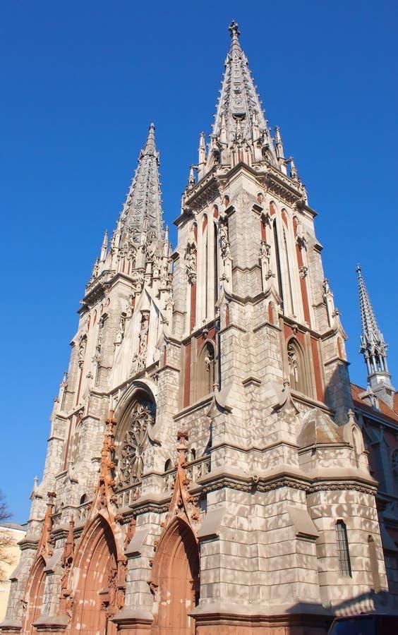 Cathédrale catholique Kyiv de Saint-Nicolas images stock