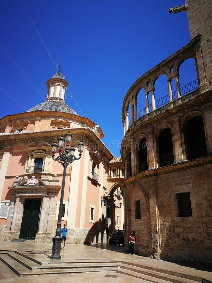 Cathédrale centrale à Valence photos stock