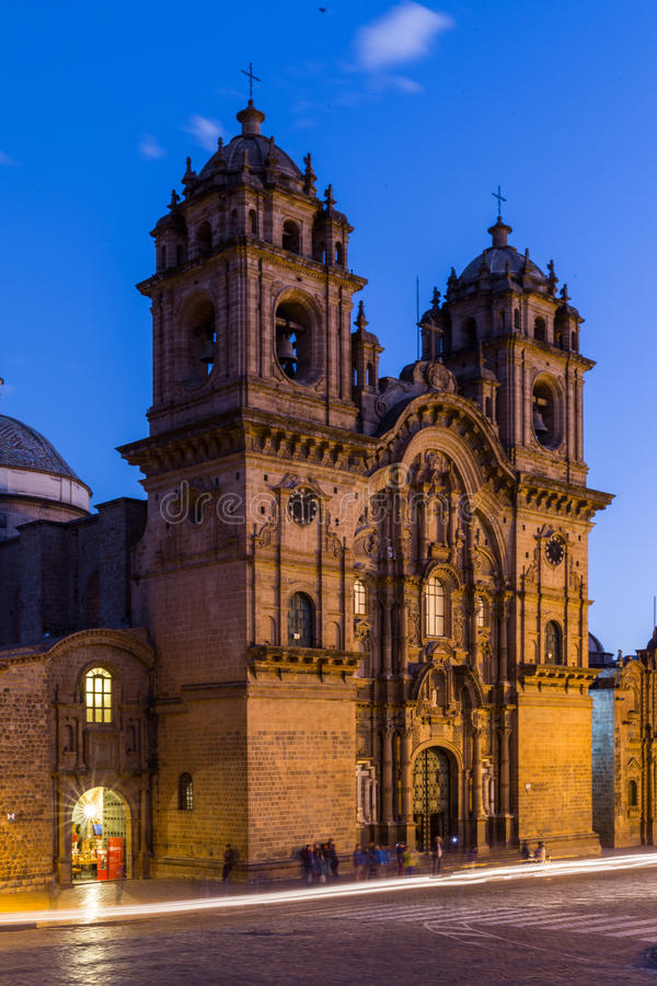 Cathédrale Cusco Pérou image stock