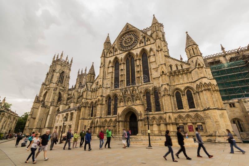 Cathédrale d'abbaye de York, North Yorkshire photographie stock libre de droits