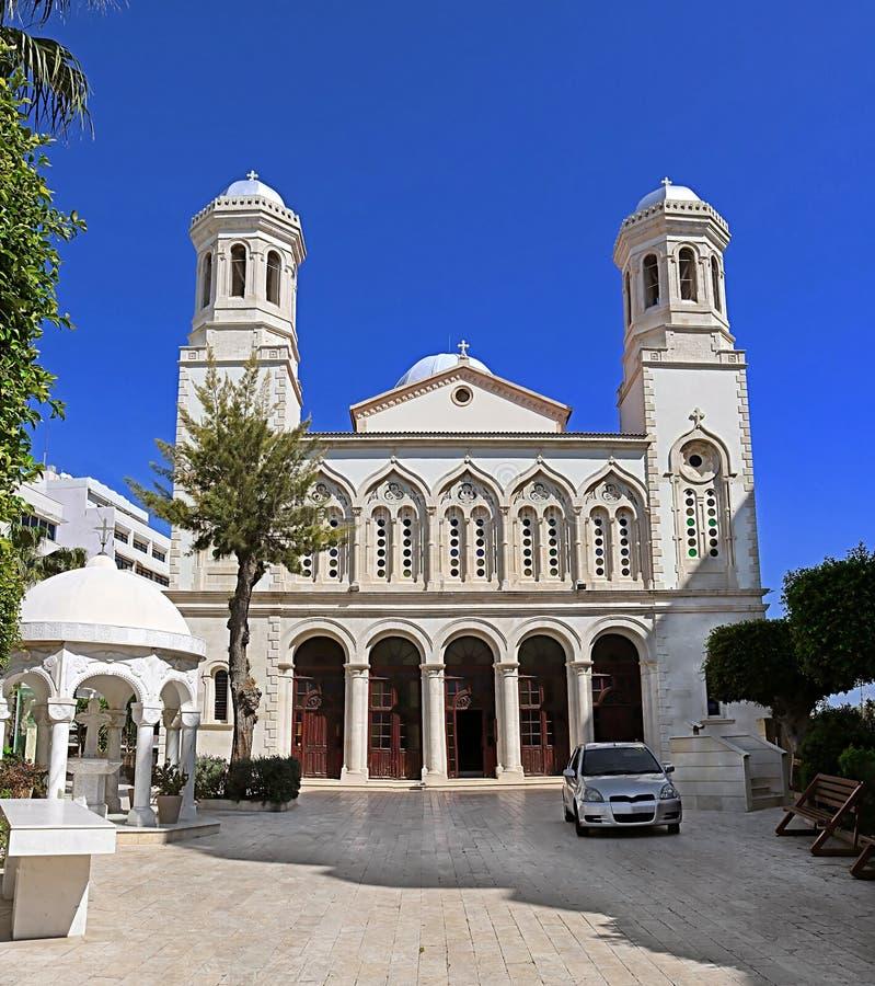Cathédrale d'Agia-Napa, l'église orthodoxe principale de la ville de Limassol, Chypre photographie stock