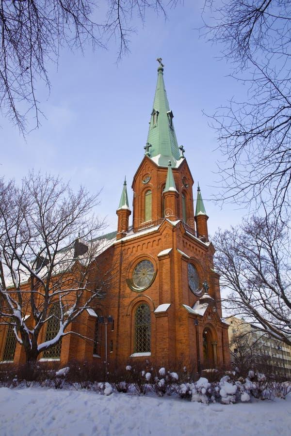 Cathédrale d'Alexandre à Tampere photos libres de droits