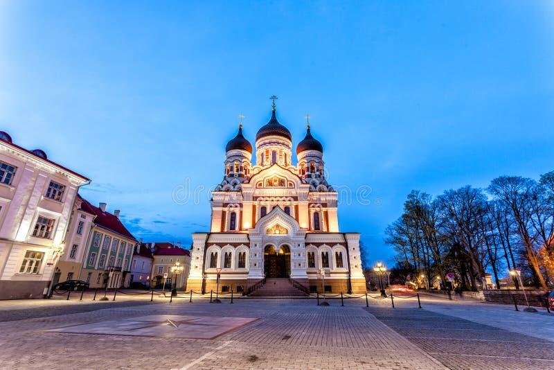 Cathédrale d'Alexandre Nevsky, Tallinn photos libres de droits