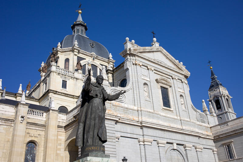 Cathédrale D Almudena à Madrid Photos libres de droits