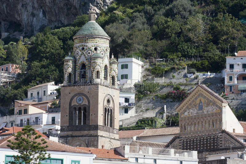Cathédrale d'Amalfi images libres de droits
