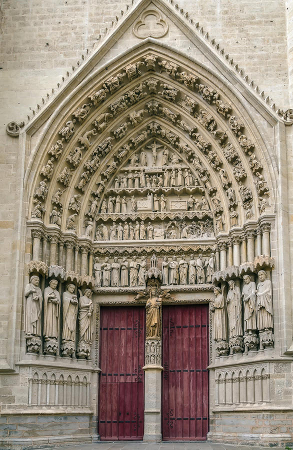 Cathédrale d'Amiens, France image stock