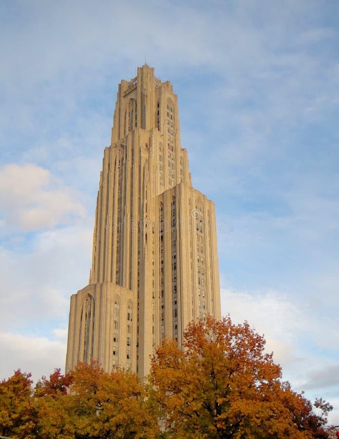 Cathédrale d'apprendre Pittsburgh images libres de droits