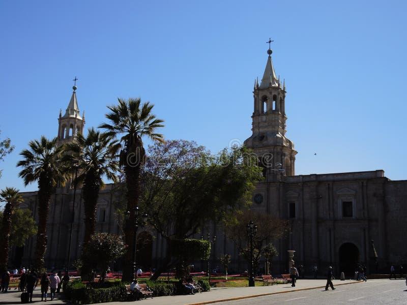 Download Cathédrale D'Arequipa, Pérou Photo stock éditorial - Image du vieux, latin: 77160338